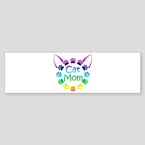 """Cat Mom"" Sticker (Bumper)"