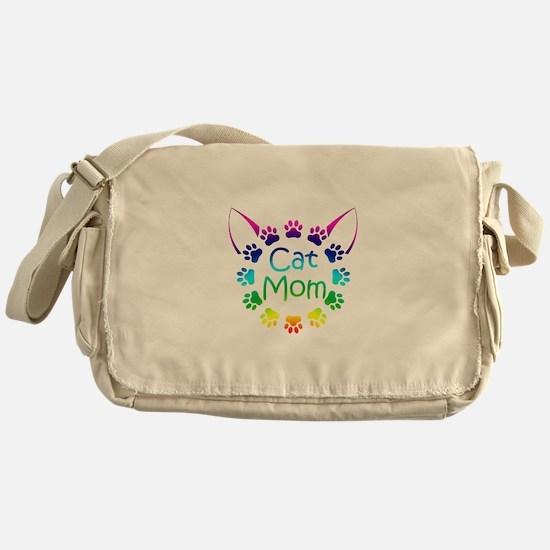 """""""Cat Mom"""" Messenger Bag"""