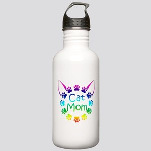 """Cat Mom"" Stainless Water Bottle 1.0L"