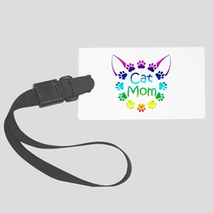 """Cat Mom"" Large Luggage Tag"