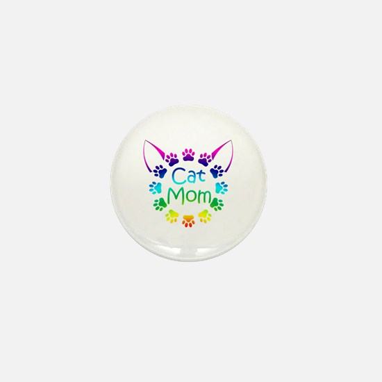 """Cat Mom"" Mini Button"