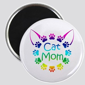 """Cat Mom"" Magnet"