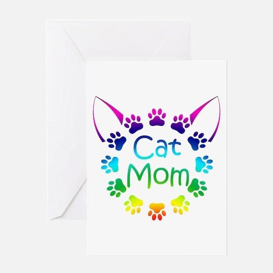 """Cat Mom"" Greeting Card"