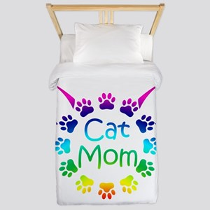 """Cat Mom"" Twin Duvet"