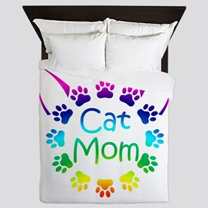 """Cat Mom"" Queen Duvet"