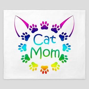 """""""Cat Mom"""" King Duvet"""