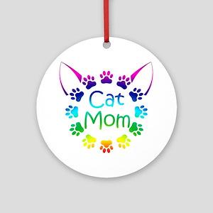 """Cat Mom"" Ornament (Round)"