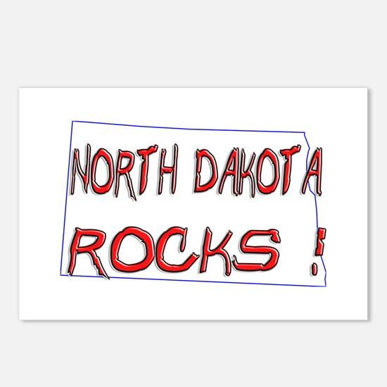 North Dakota Rocks ! Postcards (Package of 8)