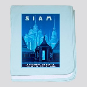 Siam Travel Poster 1 baby blanket