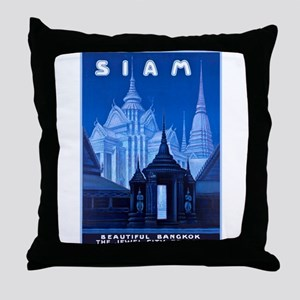 Siam Travel Poster 1 Throw Pillow