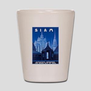 Siam Travel Poster 1 Shot Glass