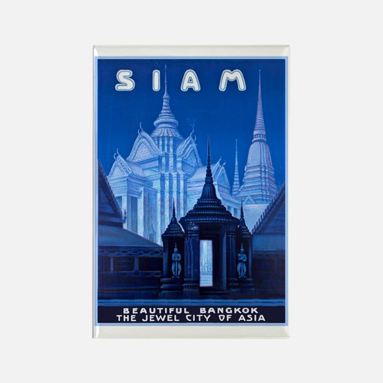 Siam Travel Poster 1 Rectangle Magnet
