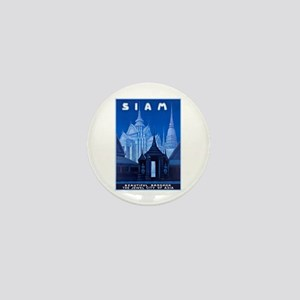 Siam Travel Poster 1 Mini Button