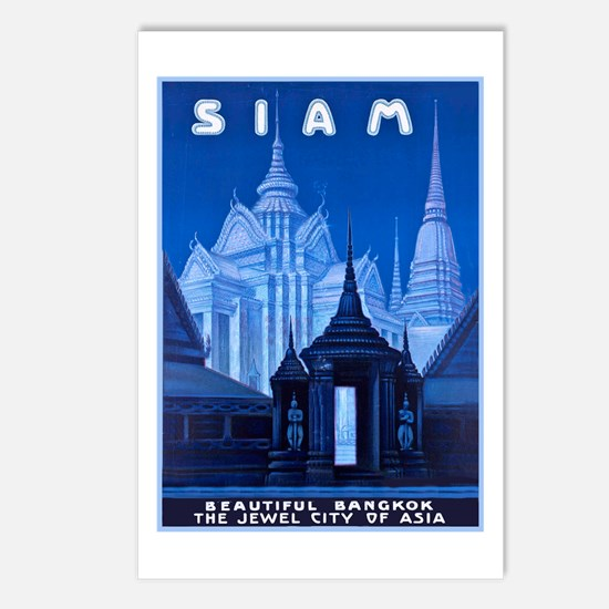 Siam Travel Poster 1 Postcards (Package of 8)