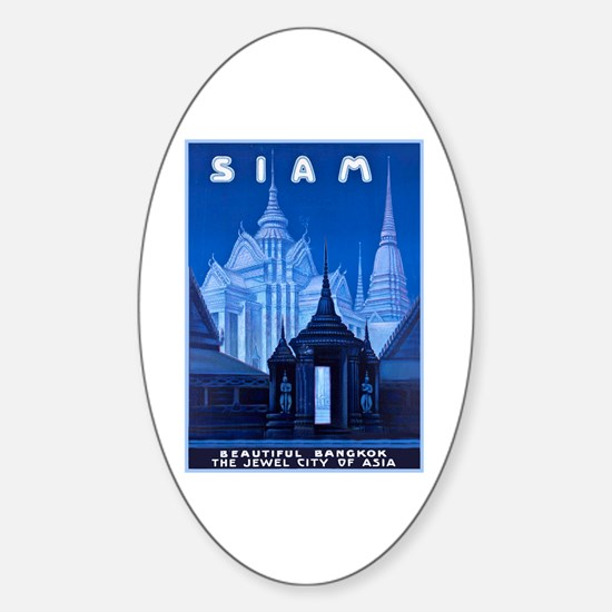 Siam Travel Poster 1 Sticker (Oval)