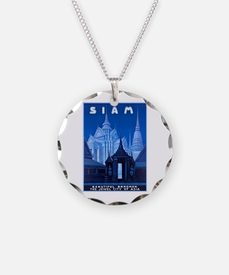 Siam Travel Poster 1 Necklace