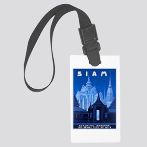 Siam Travel Poster 1 Large Luggage Tag
