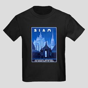 Siam Travel Poster 1 Kids Dark T-Shirt