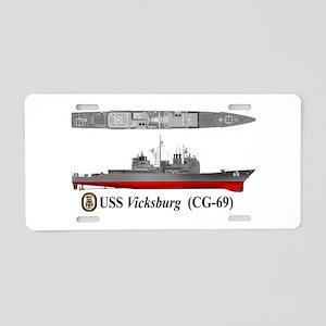 USS Vicksburg CG-69 Aluminum License Plate
