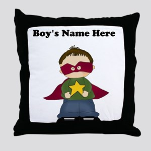 Personalized Super Hero Boy Throw Pillow