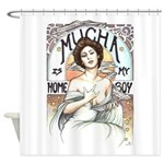 Mucha is My Homeboy Shower Curtain