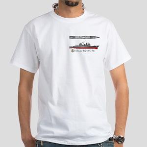 USS Lake Erie CG-70 White T-Shirt
