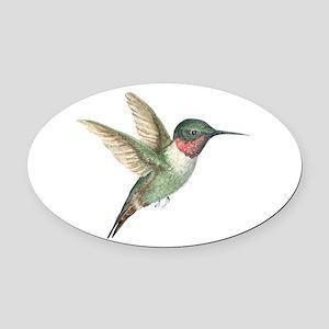 Hummingbird Oval Car Magnet