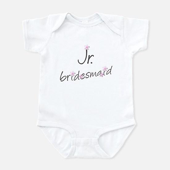 Pink Floral Jr. Bridesmaid Infant Creeper