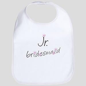 Pink Floral Jr. Bridesmaid Bib