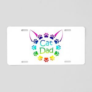 """""""Cat Dad"""" Aluminum License Plate"""