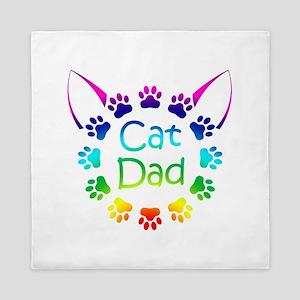 """""""Cat Dad"""" Queen Duvet"""