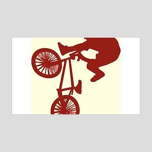 BMX Bike Rider/Pop Art 38.5 x 24.5 Wall Peel