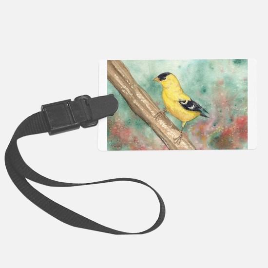 Gold Finch Luggage Tag