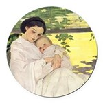 Mother's Day Round Car Magnet