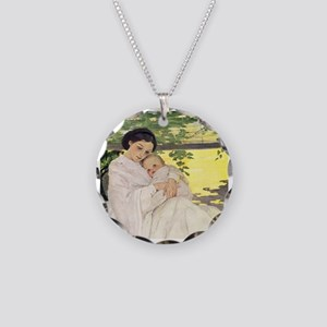 Mother's Day Necklace Circle Charm