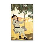 Girl on a Swing Rectangle Car Magnet