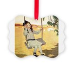 Girl on a Swing Picture Ornament