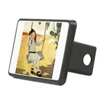 Girl on a Swing Rectangular Hitch Cover
