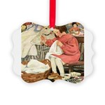 Little Girl Sewing Picture Ornament