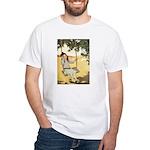 Girl on a Swing White T-Shirt