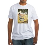 Girl on a Swing Fitted T-Shirt