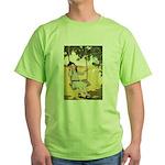 Girl on a Swing Green T-Shirt