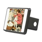 Little Girl Sewing Rectangular Hitch Cover