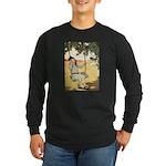 Girl on a Swing Long Sleeve Dark T-Shirt