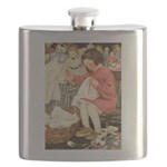 Little Girl Sewing Flask