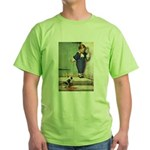 A Boy and His Puppy Green T-Shirt