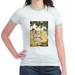 Girl on a Swing Jr. Ringer T-Shirt