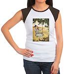 Girl on a Swing Women's Cap Sleeve T-Shirt