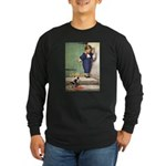 A Boy and His Puppy Long Sleeve Dark T-Shirt