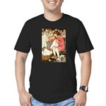 Little Girl Sewing Men's Fitted T-Shirt (dark)